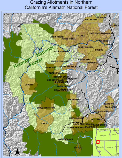National Forests In California Map.Photos And Maps The Grazing Reform Program